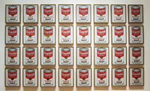 andy warhol campbells soup cans konst pop mat retro postmodernism