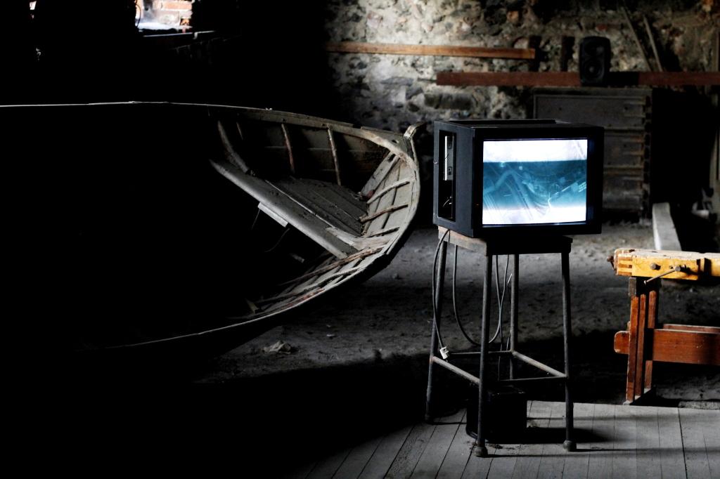 Videoinstallationen i gamla gjuteriet var en höjdpunkt på Norpas.