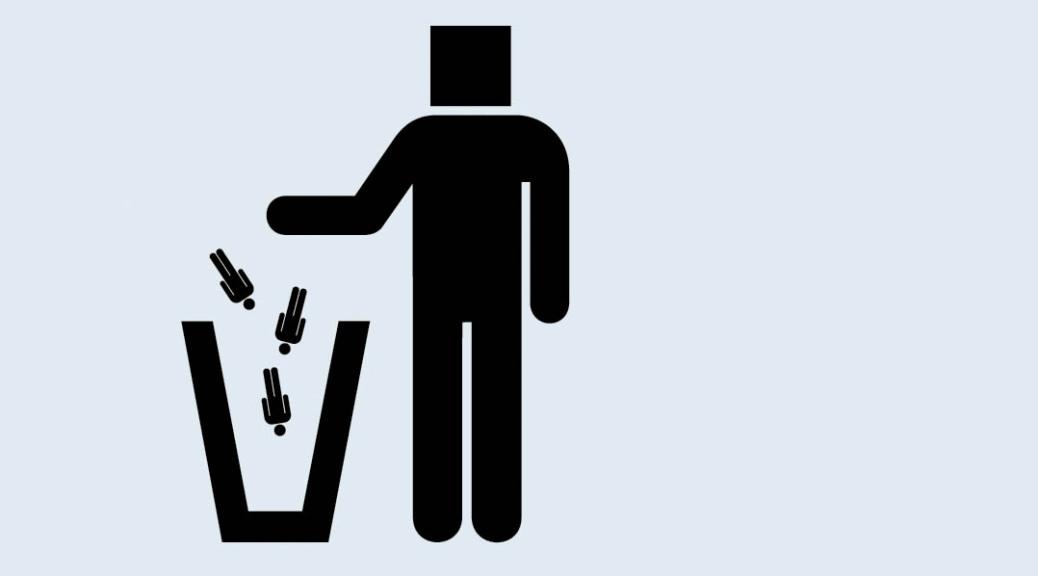 kolmn skrota människan rosk skräp otto d