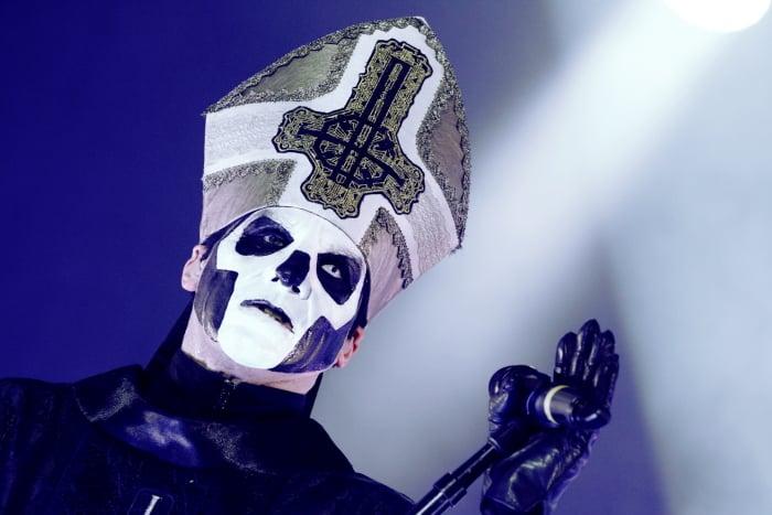 Papa Emeritus III i Ghost.