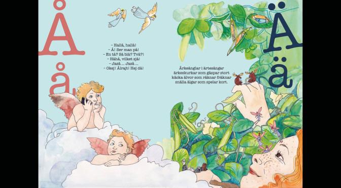 Färggrann nostalgitripp med nyutkommen ABC-bok