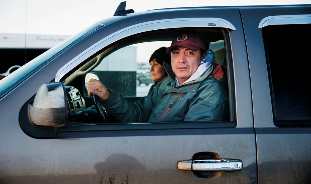 Dave Archembault är Standing Rock-stammens ordförande.