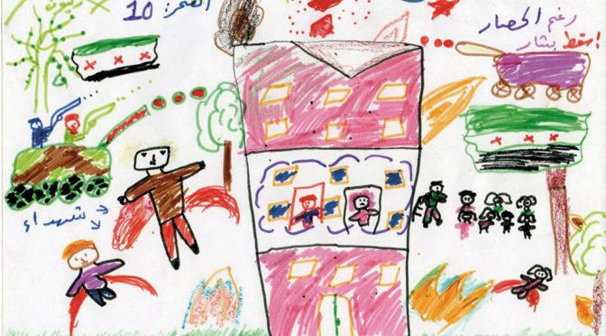 Syriens barn tecknarnya mardrömmar