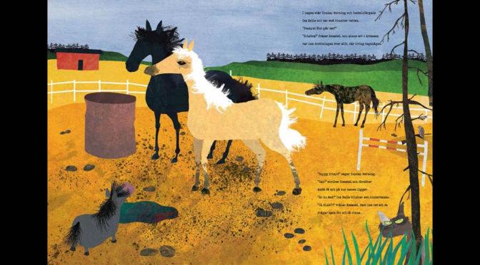 Rufsig ponny i magisk hästbok