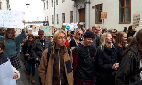 Världen demonstrerade med Thunberg – Ny Tid på plats i Stockholm